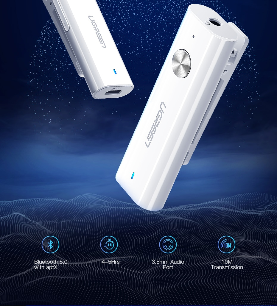 Bluetooth 5.0 Receiver for Headphones